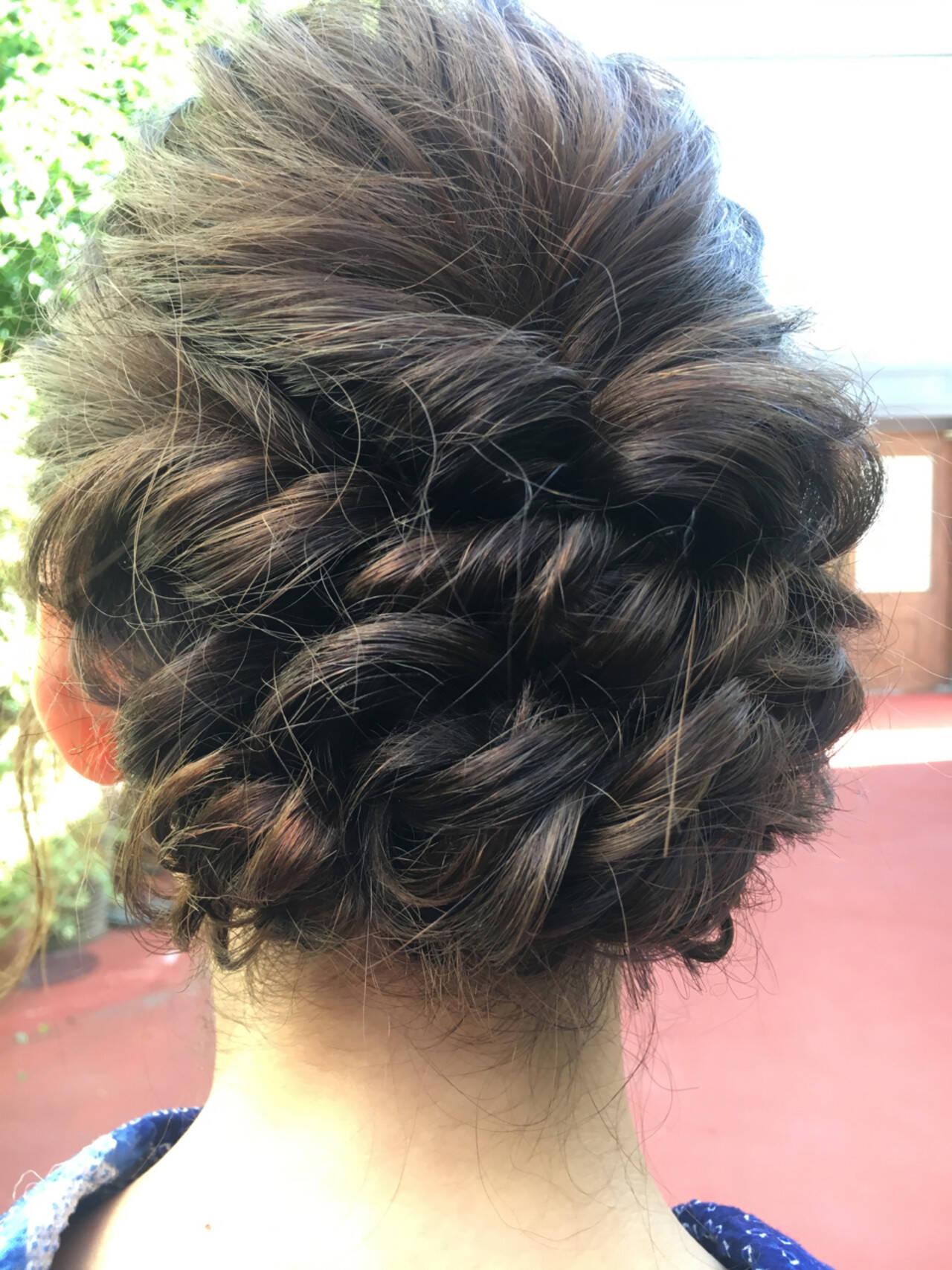 花火大会 夏 デート ミディアムヘアスタイルや髪型の写真・画像