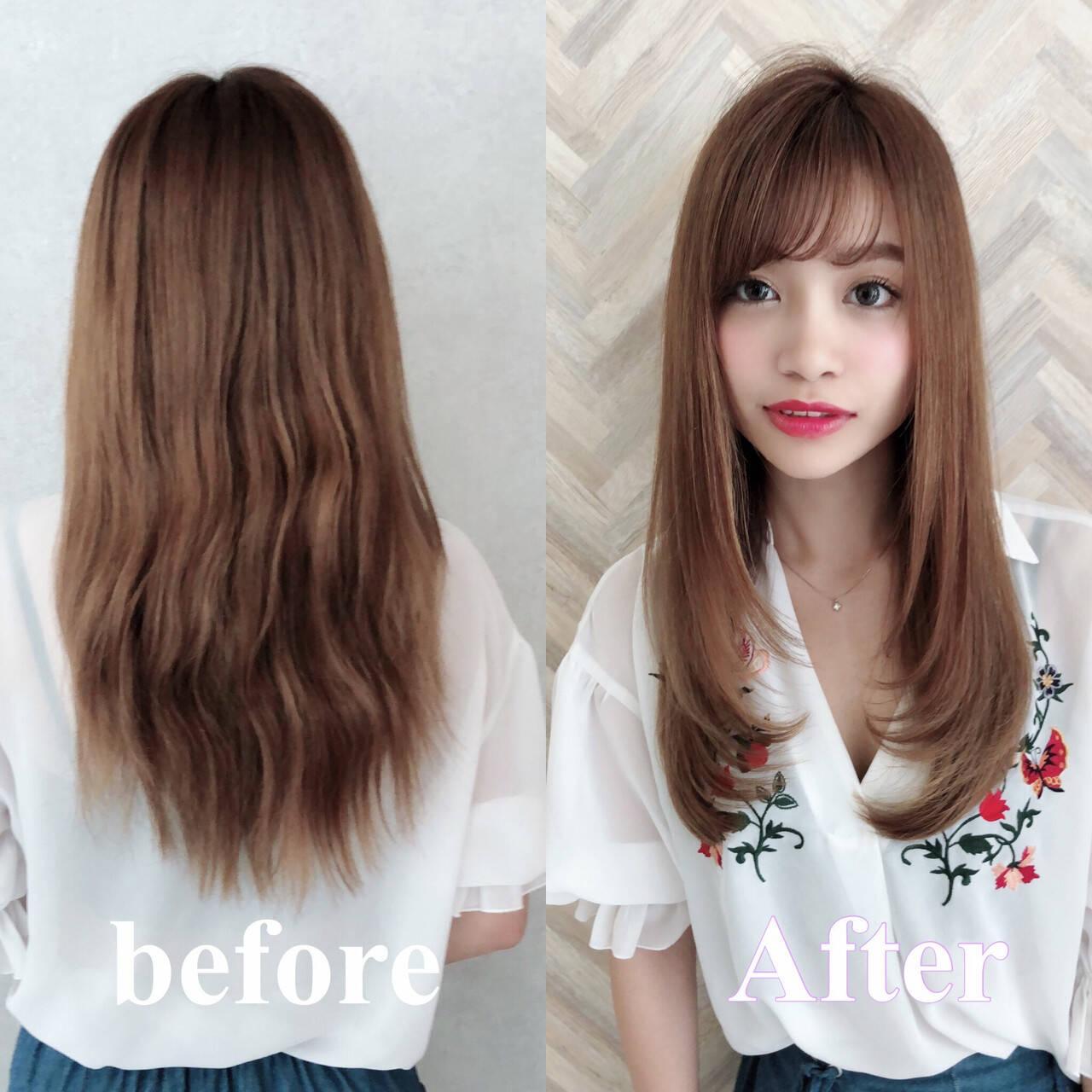縮毛矯正 トリートメント 似合わせカット 髪質改善トリートメントヘアスタイルや髪型の写真・画像