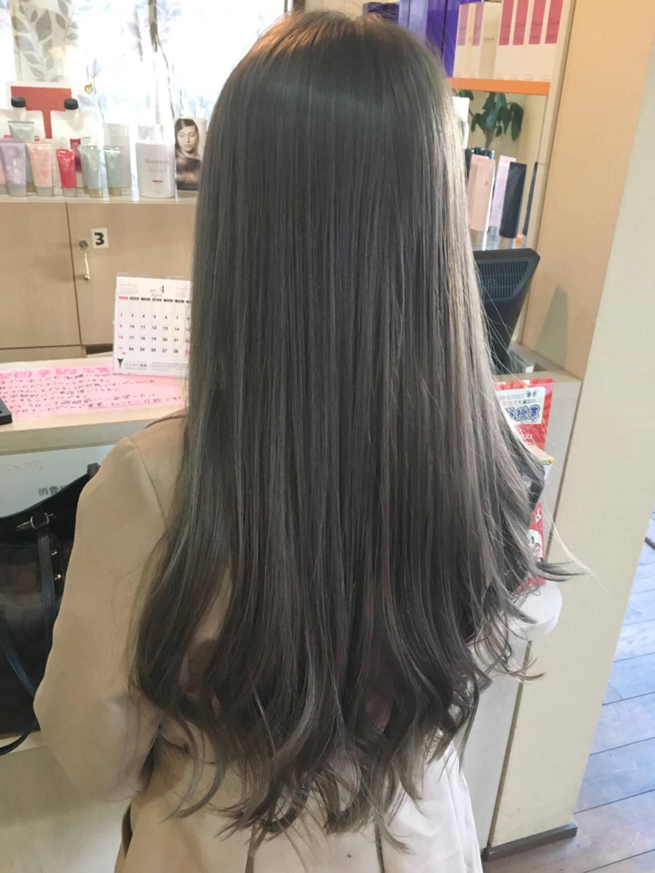 ハイライト 外国人風 グレージュ 外国人風カラーヘアスタイルや髪型の写真・画像