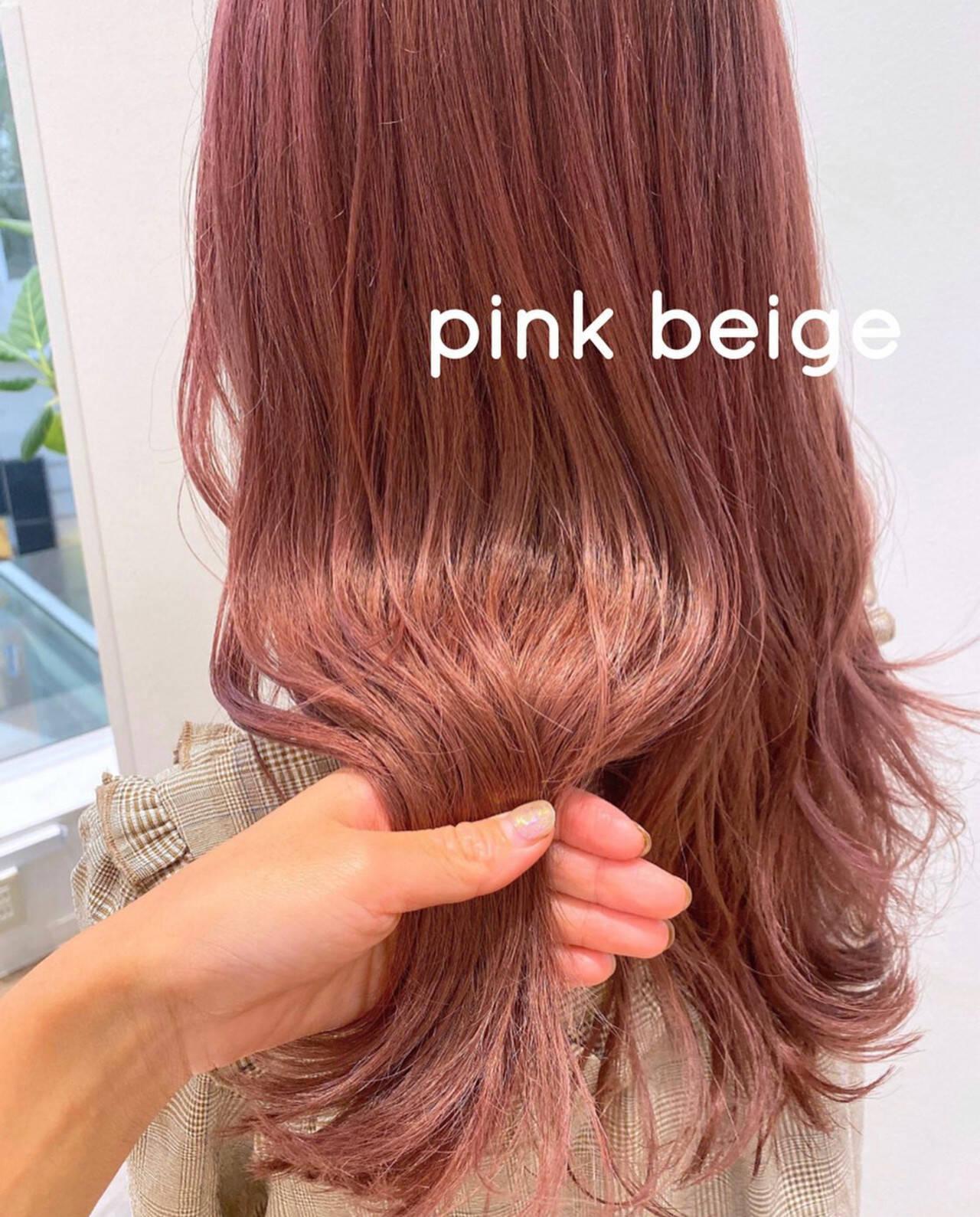 ラベンダーピンク ピンク ロング ピンクラベンダーヘアスタイルや髪型の写真・画像
