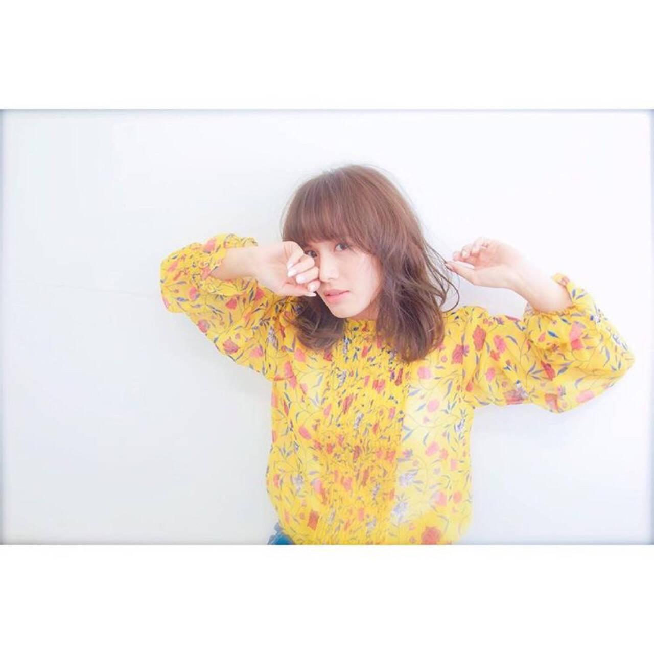 ニュアンス 春 外国人風 ミルクティーヘアスタイルや髪型の写真・画像