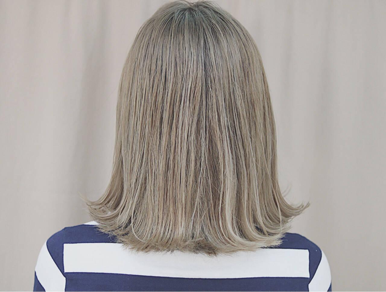 金髪 オルチャン デート ボブヘアスタイルや髪型の写真・画像