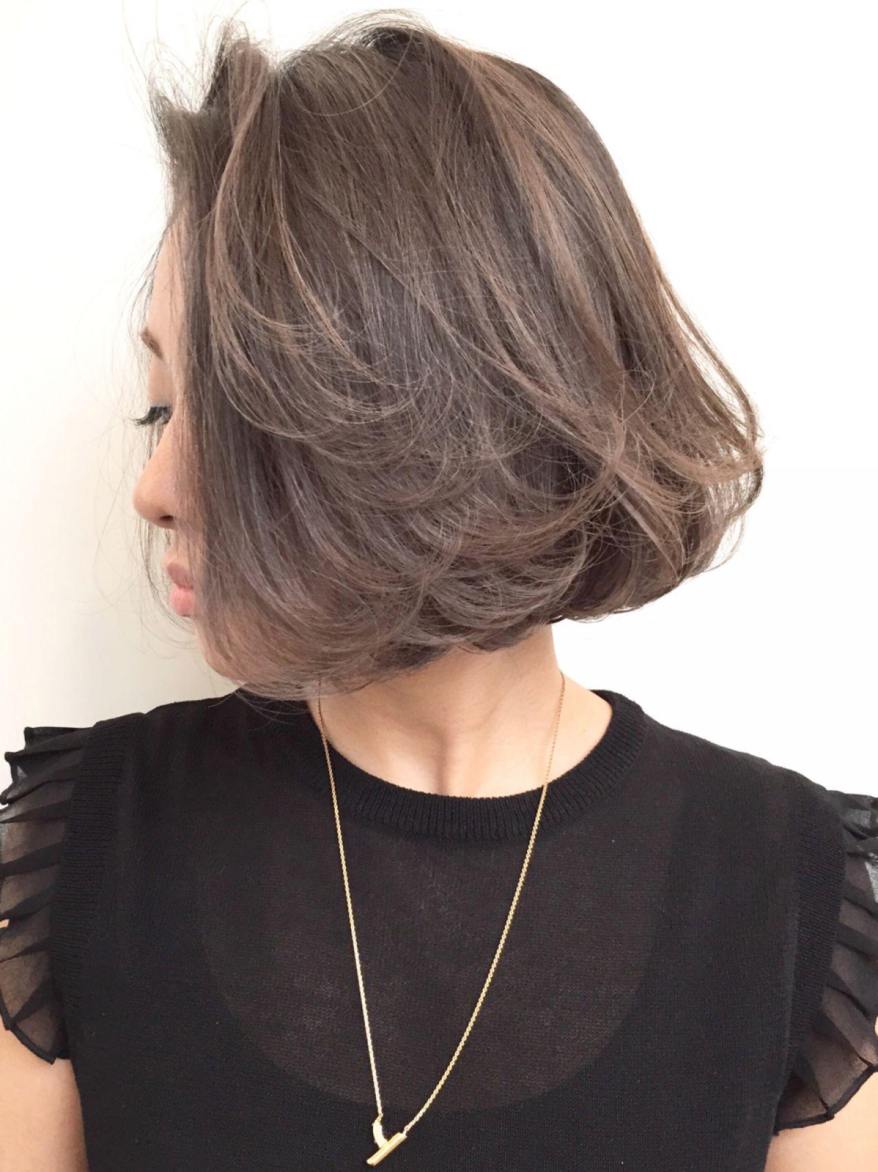 外国人風カラー セクシー 色気 ボブヘアスタイルや髪型の写真・画像