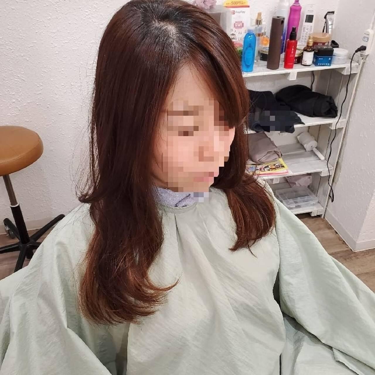 縮毛矯正ストカール ストカール 艶髪 縮毛矯正名古屋市ヘアスタイルや髪型の写真・画像