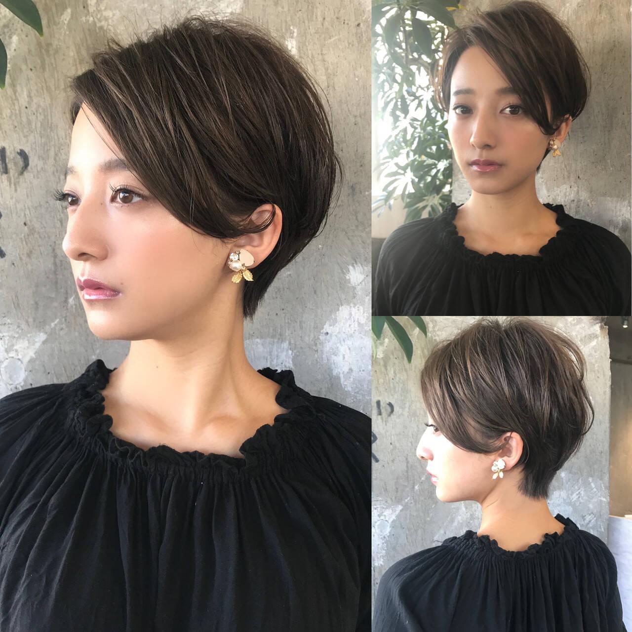 ショートボブ ナチュラル ショート 吉瀬美智子ヘアスタイルや髪型の写真・画像
