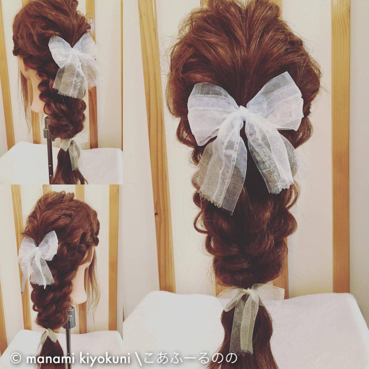 ゆるふわ ヘアアレンジ ロング ガーリーヘアスタイルや髪型の写真・画像