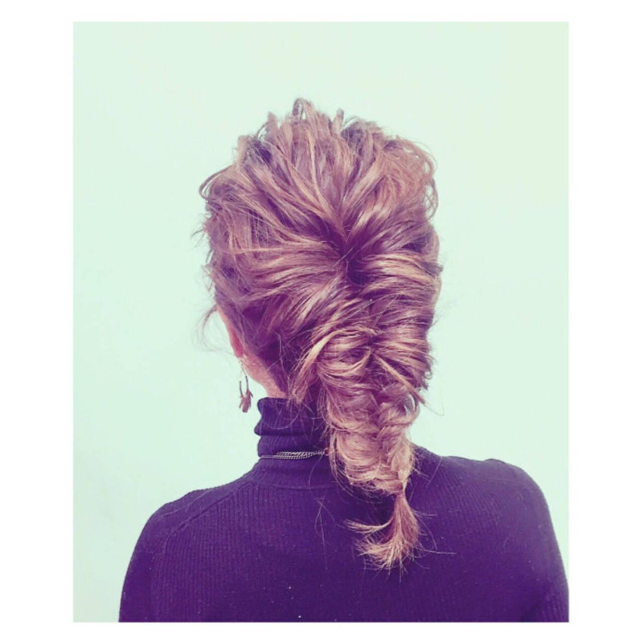 外国人風 セミロング グラデーションカラー ショートヘアスタイルや髪型の写真・画像