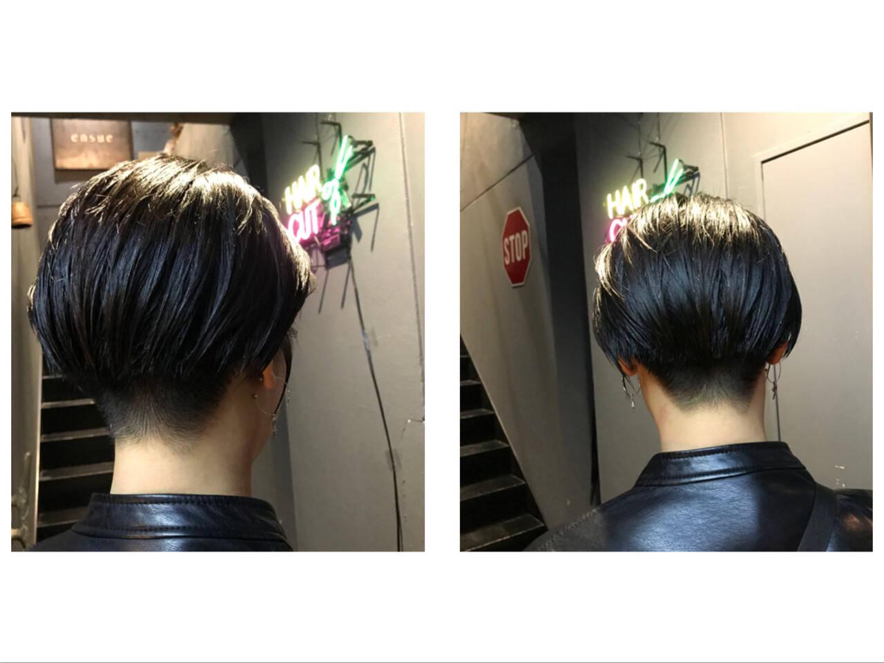 ナチュラル ハンサムショート 刈り上げ女子 ショートヘアヘアスタイルや髪型の写真・画像