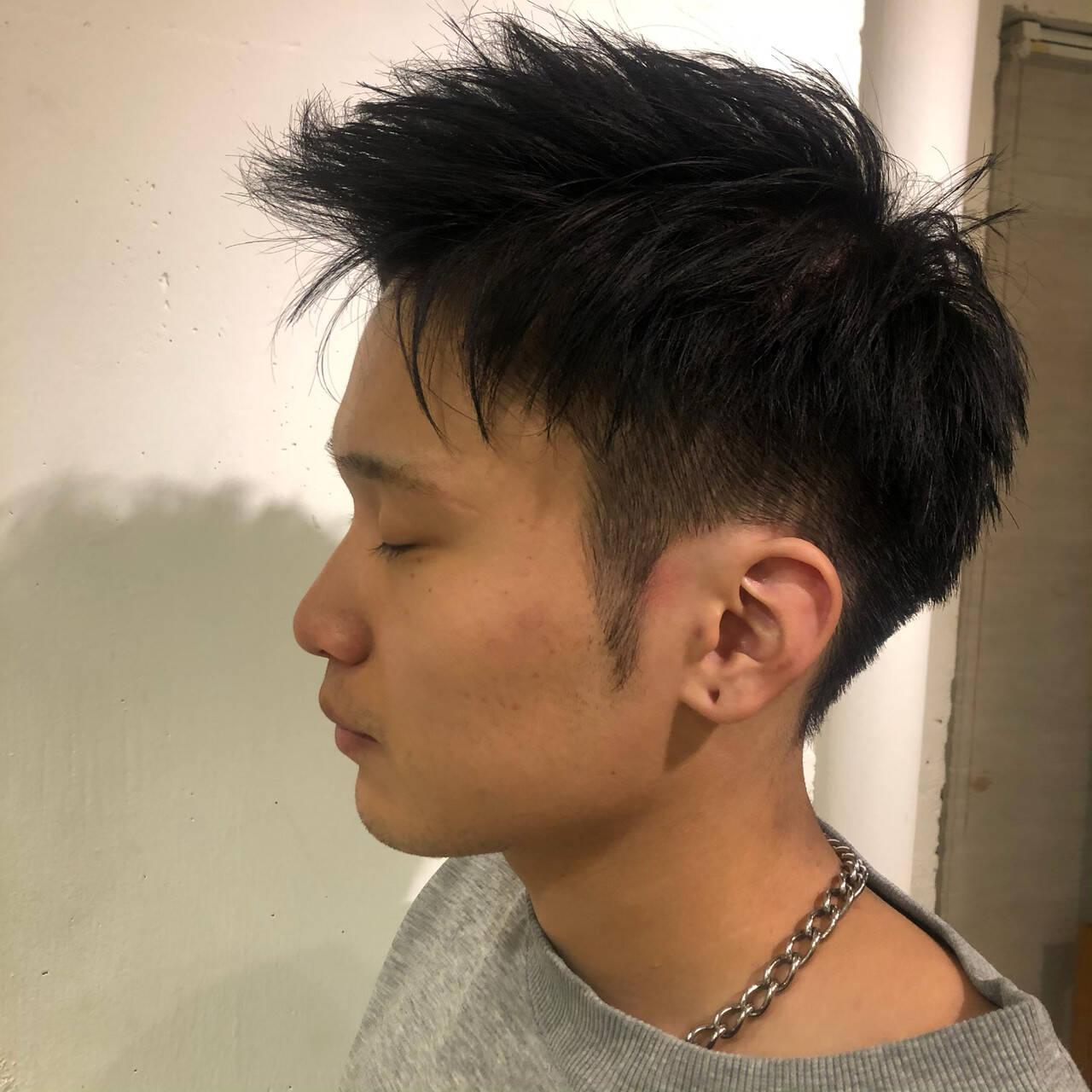 メンズ ストリート 刈り上げ ショートヘアスタイルや髪型の写真・画像