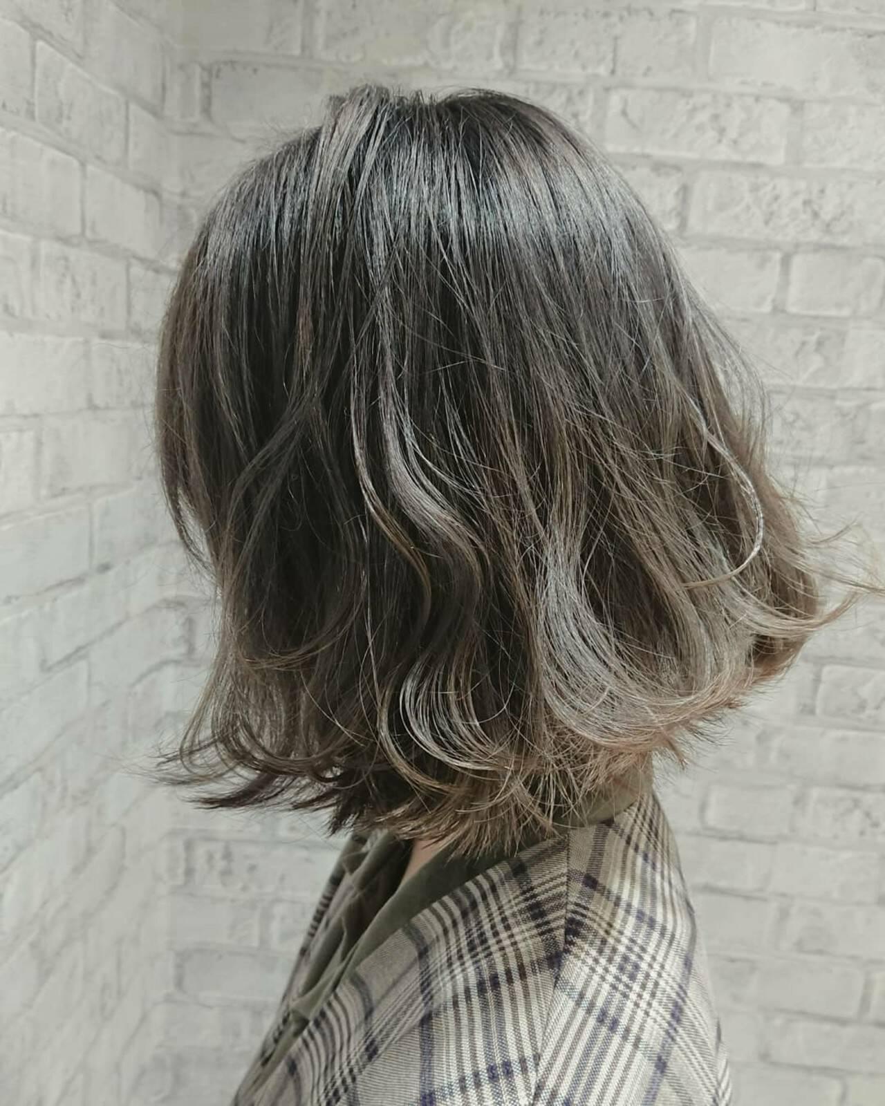 こなれ感 ボブ ガーリー 切りっぱなしヘアスタイルや髪型の写真・画像