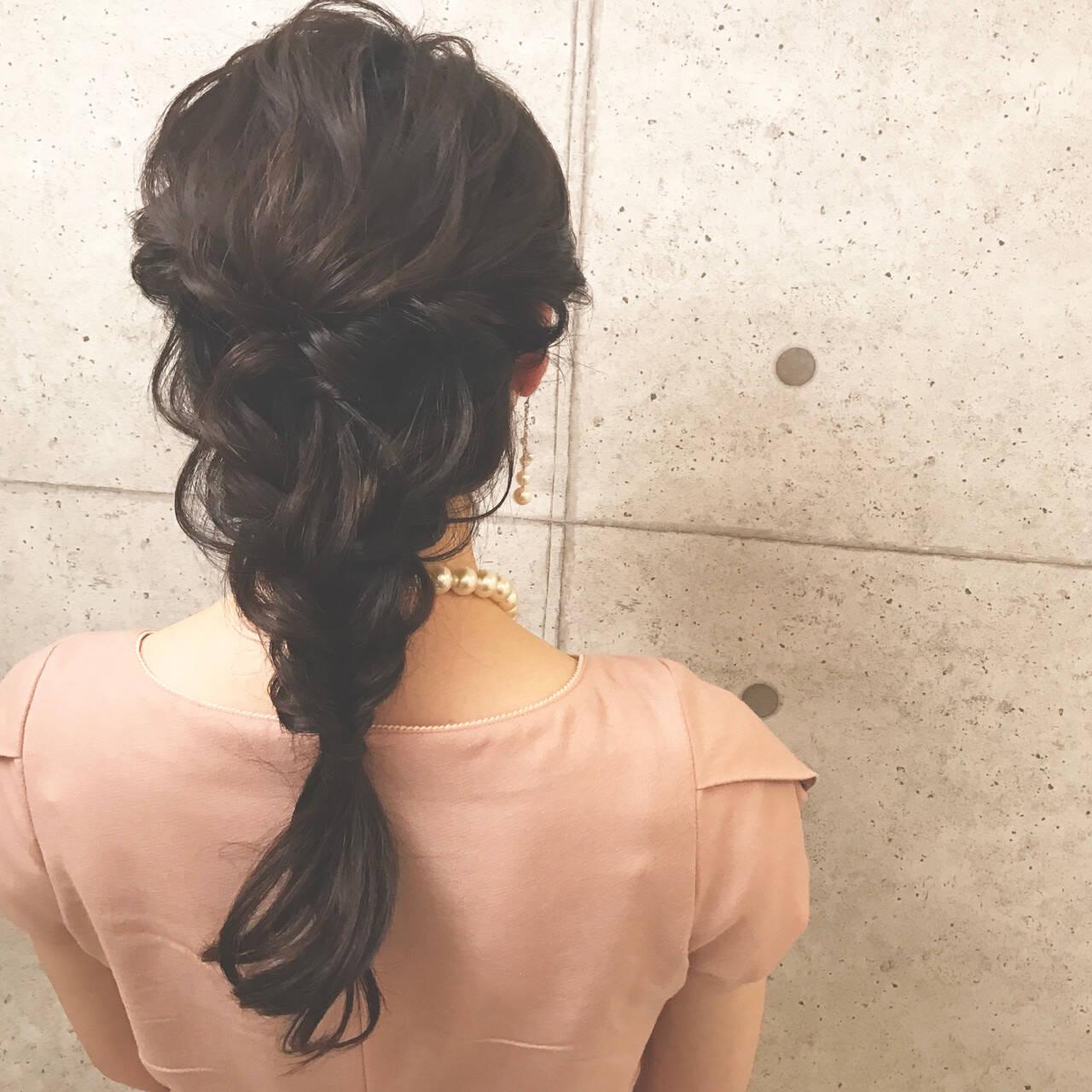 ハーフアップ ナチュラル ヘアアレンジ デートヘアスタイルや髪型の写真・画像