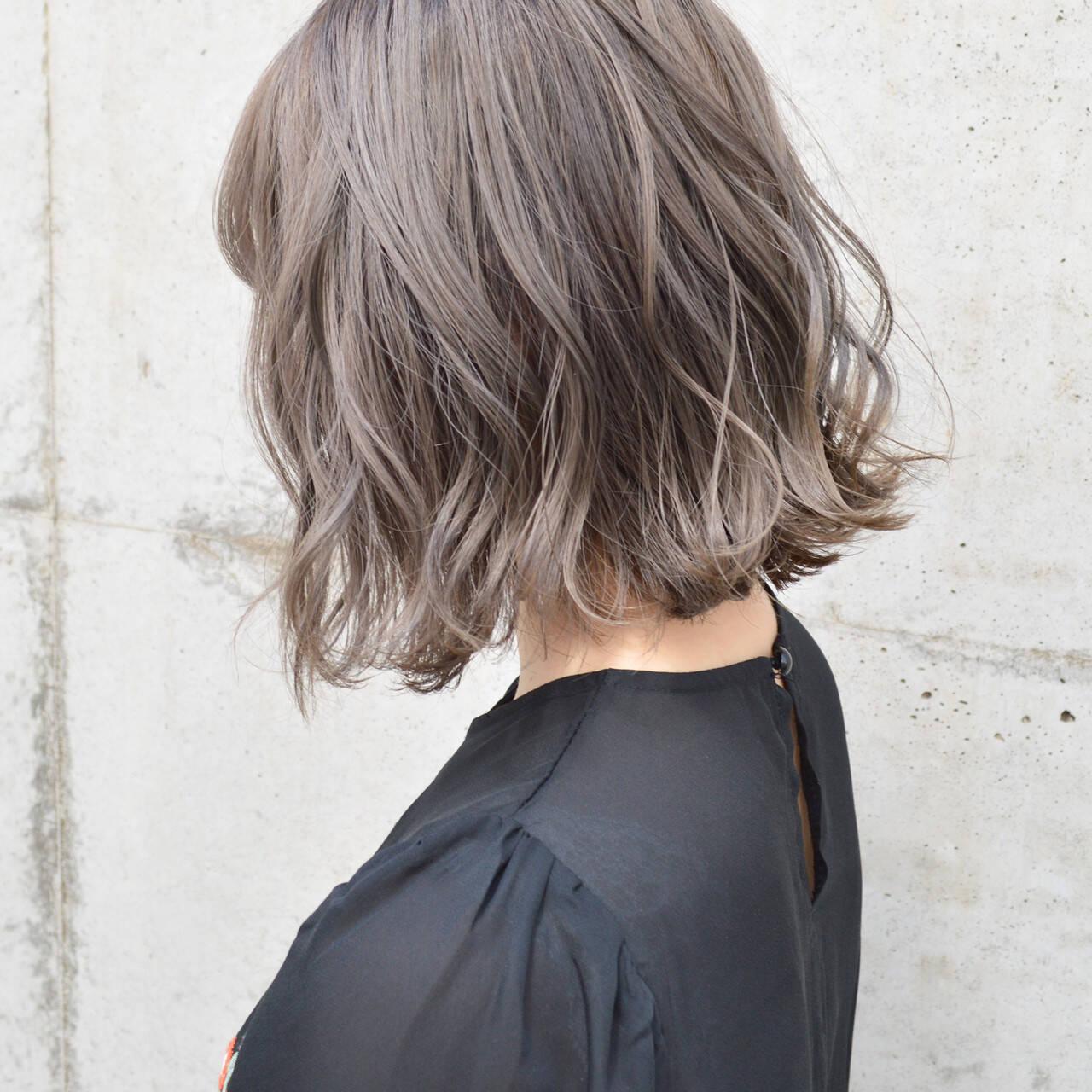 ボブ 切りっぱなし デート アンニュイほつれヘアヘアスタイルや髪型の写真・画像