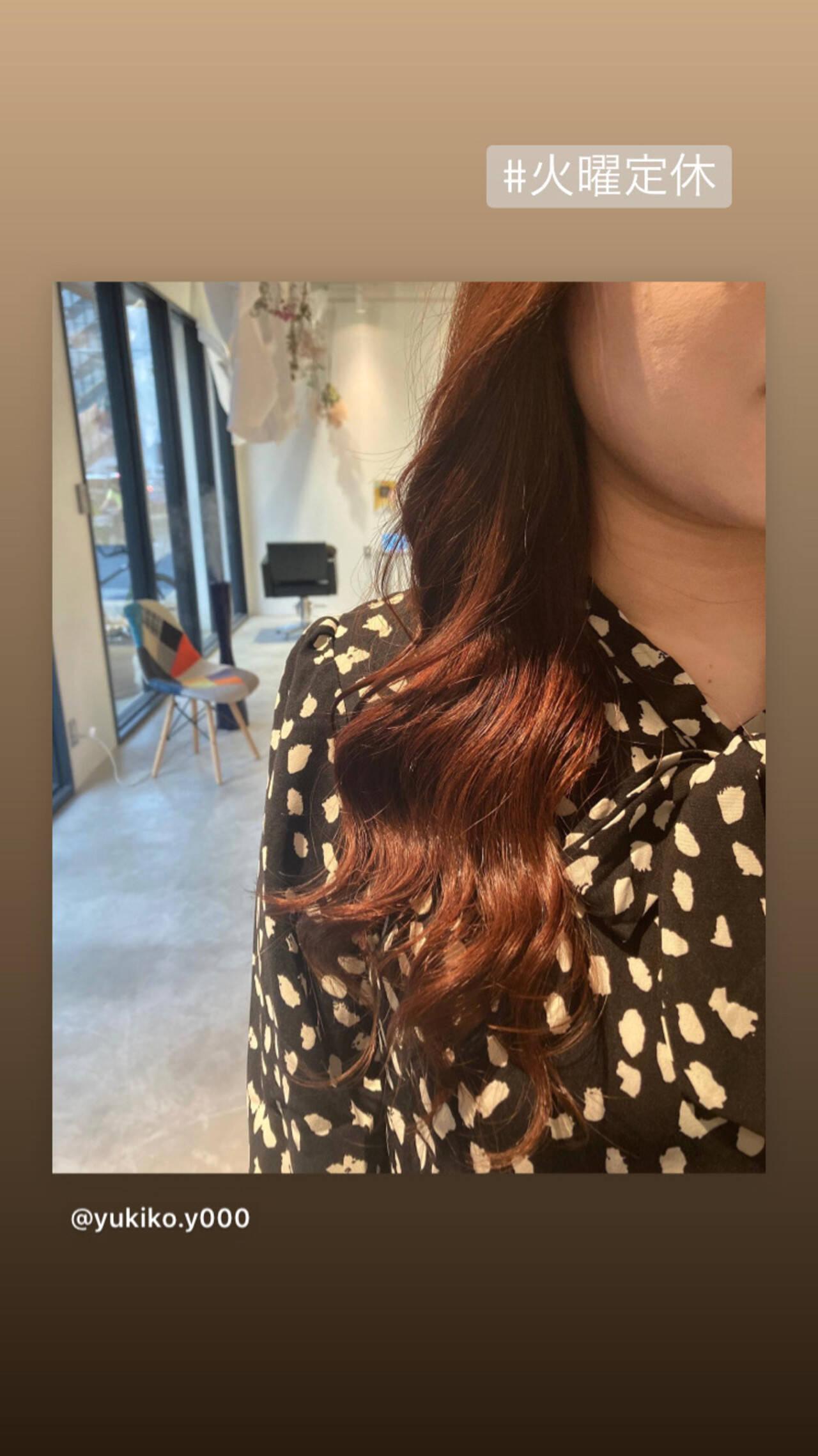 ナチュラル セミロング 韓国ヘア うる艶カラーヘアスタイルや髪型の写真・画像