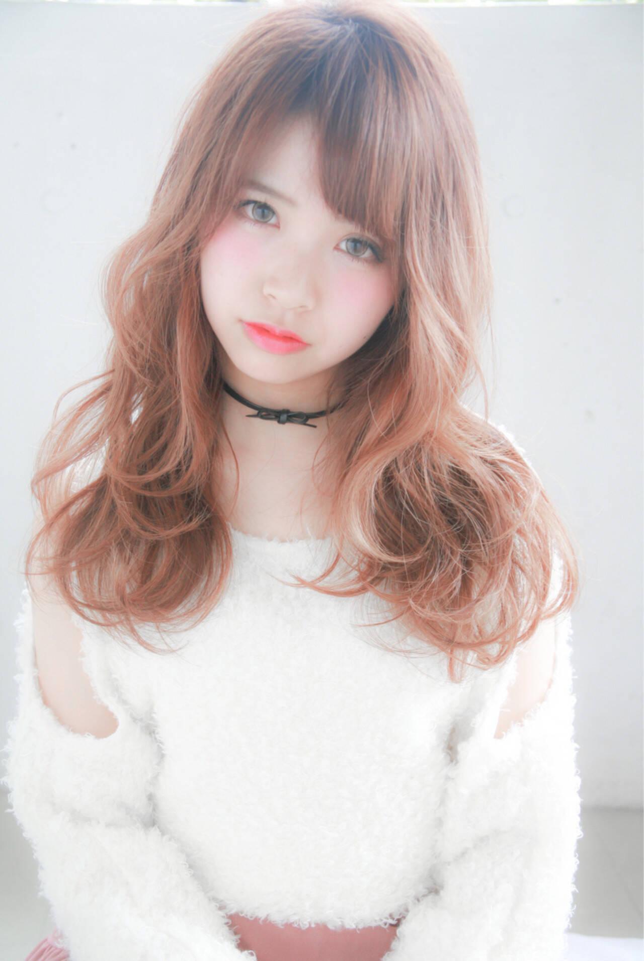 ピンク 外国人風カラー 大人かわいい 透明感ヘアスタイルや髪型の写真・画像