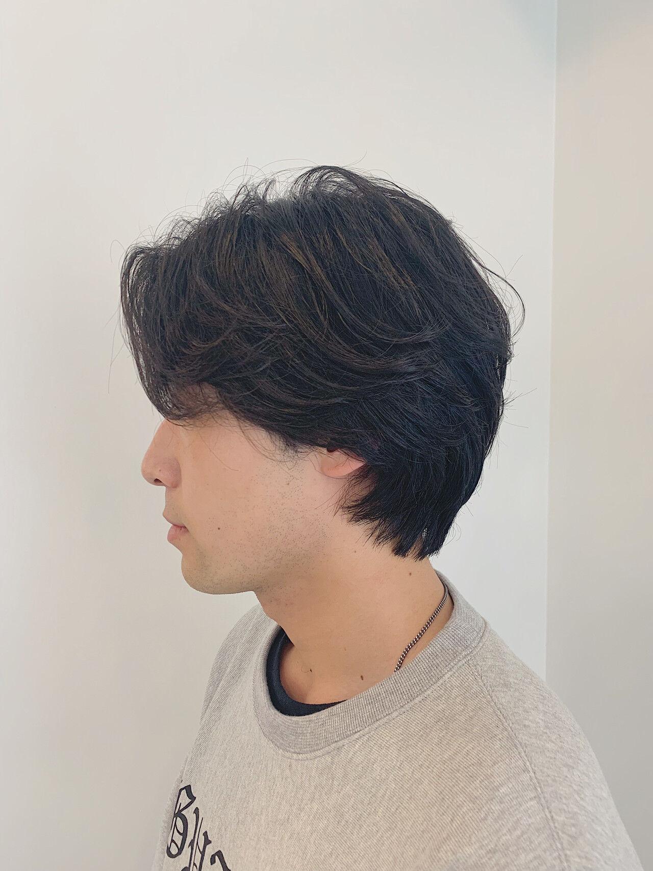 ナチュラル ショート メンズ メンズカジュアルヘアスタイルや髪型の写真・画像