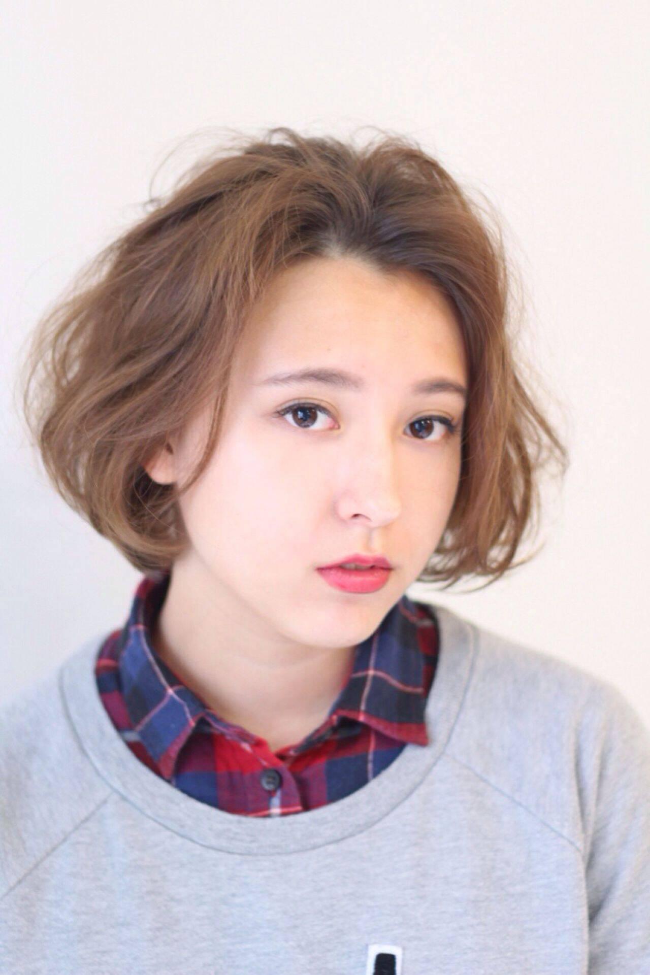 ストリート ボブ 秋 ガーリーヘアスタイルや髪型の写真・画像