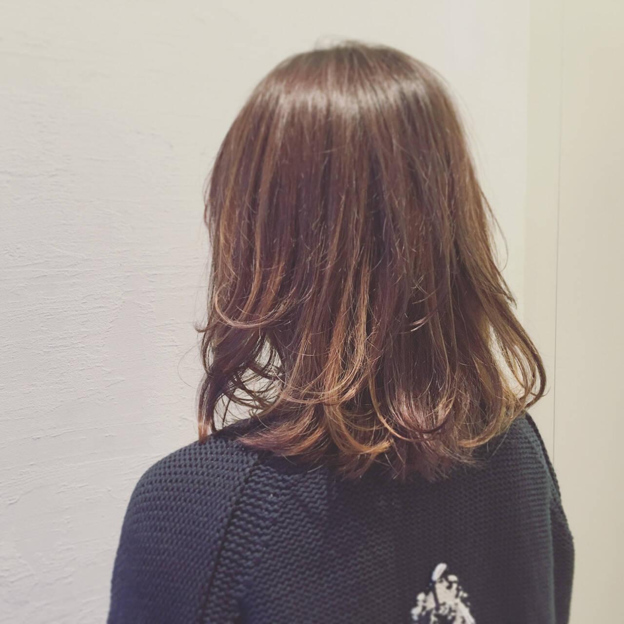 外国人風 ダブルカラー イルミナカラー ハイライトヘアスタイルや髪型の写真・画像