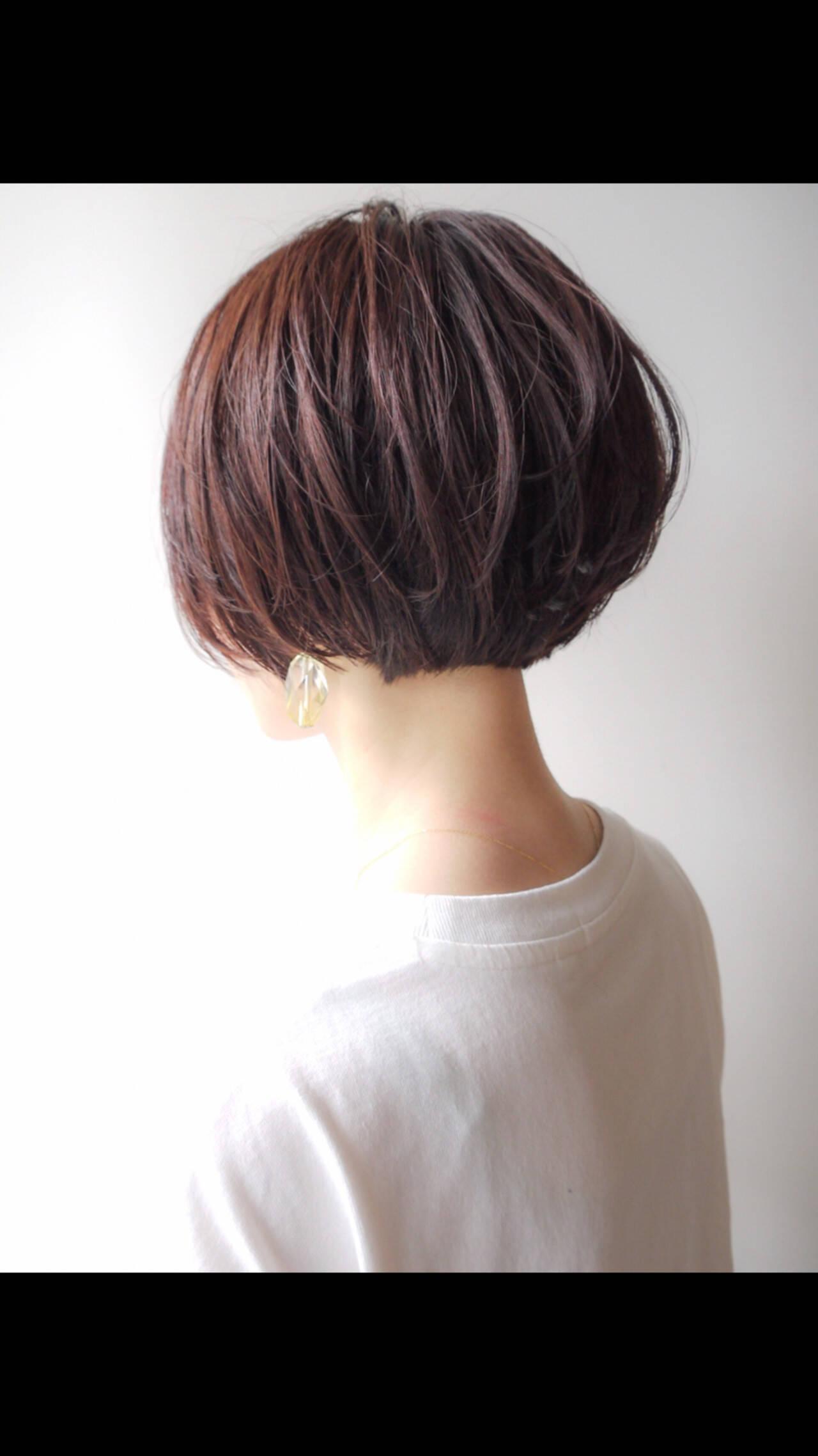 コンサバ ボブ アウトドア ハンサムショートヘアスタイルや髪型の写真・画像