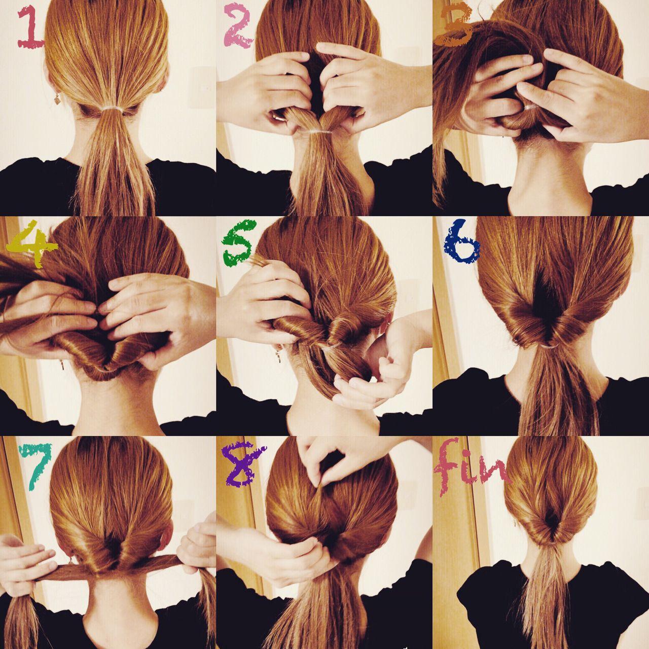 簡単ヘアアレンジ セルフヘアアレンジ ガーリー くるりんぱヘアスタイルや髪型の写真・画像