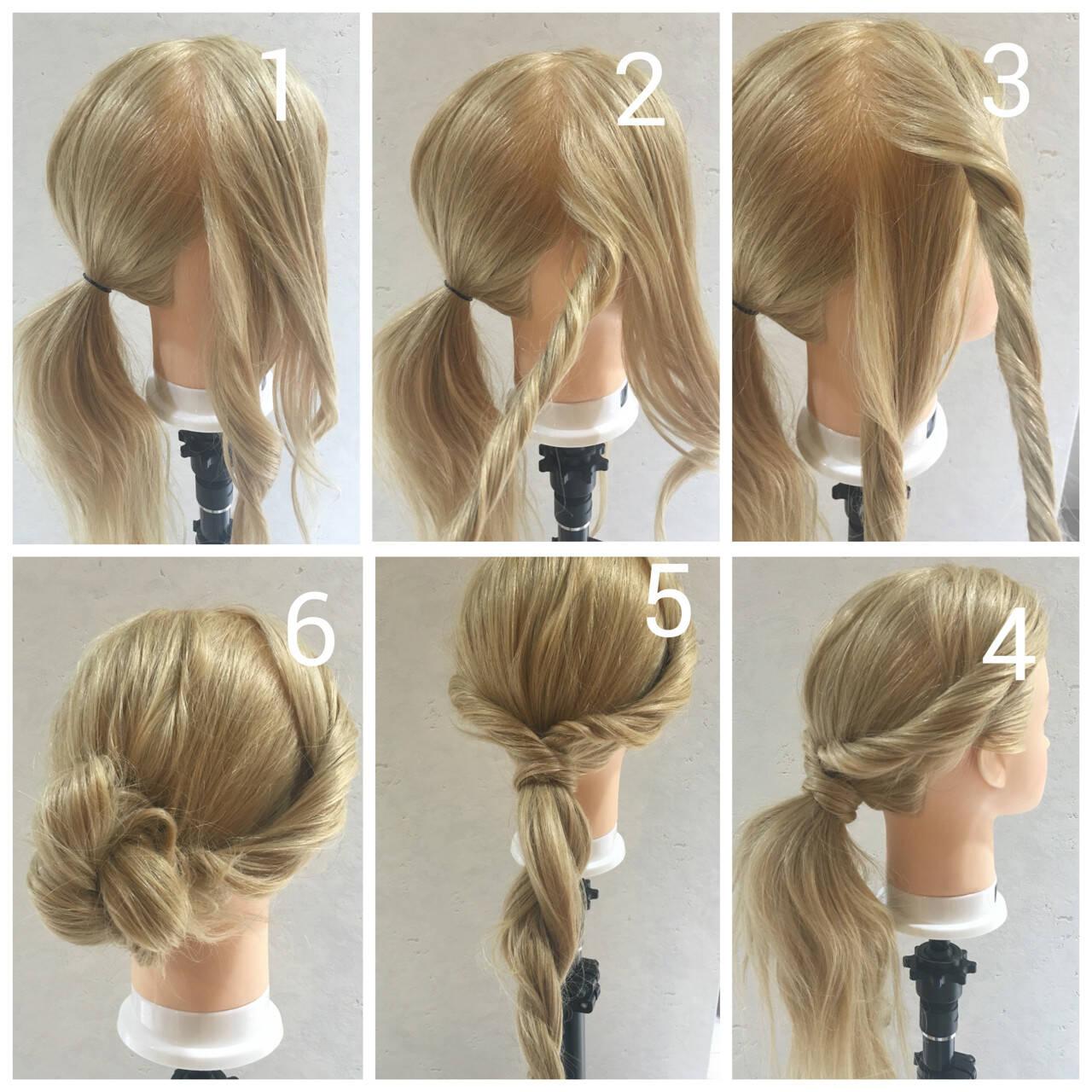 ロング ヘアアレンジ 簡単ヘアアレンジ ゆるふわヘアスタイルや髪型の写真・画像