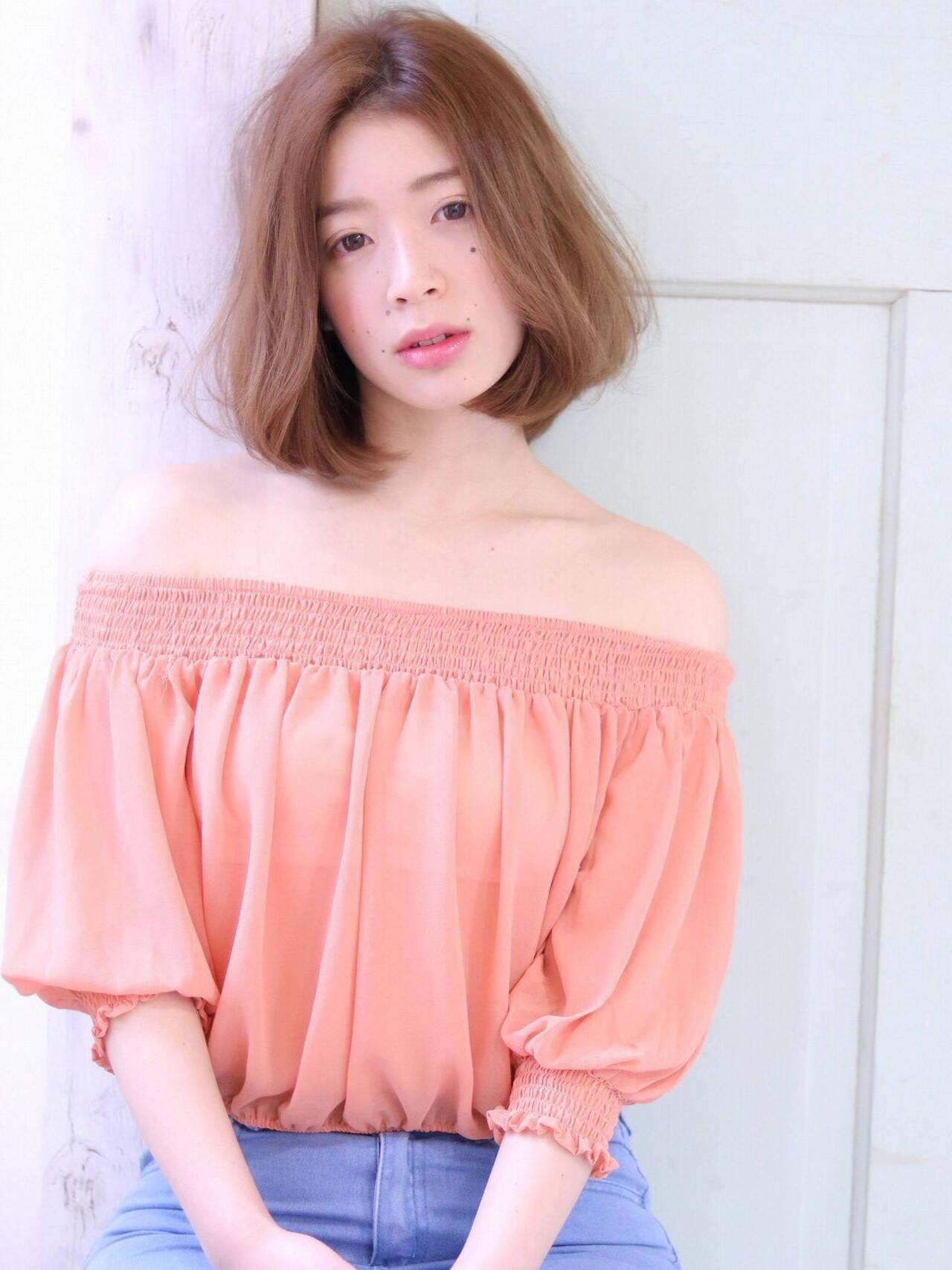 フェミニン 色気 ボブ 大人女子ヘアスタイルや髪型の写真・画像
