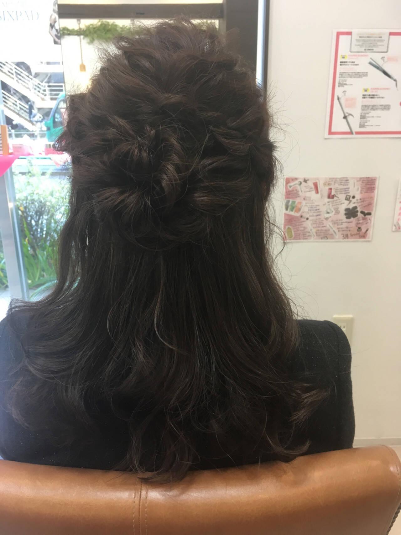 ミディアム ヘアアレンジ エレガント 上品ヘアスタイルや髪型の写真・画像