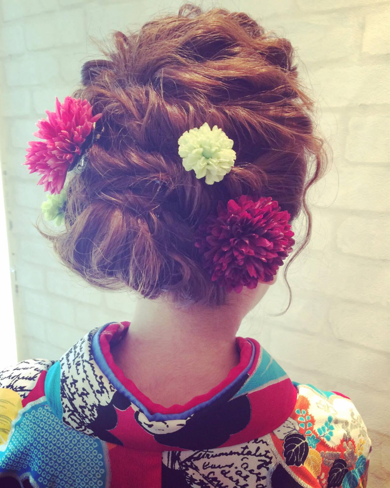 ボブ ヘアアレンジ 外国人風 簡単ヘアアレンジヘアスタイルや髪型の写真・画像