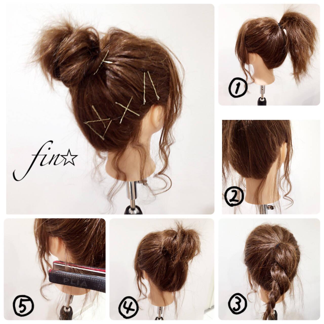 ショート お団子 結婚式 簡単ヘアアレンジヘアスタイルや髪型の写真・画像