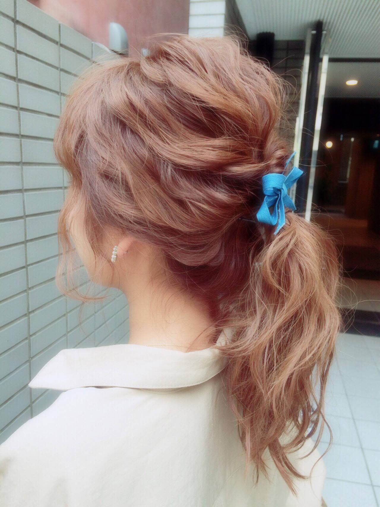 ヘアアレンジ 大人かわいい セミロング モテ髪ヘアスタイルや髪型の写真・画像