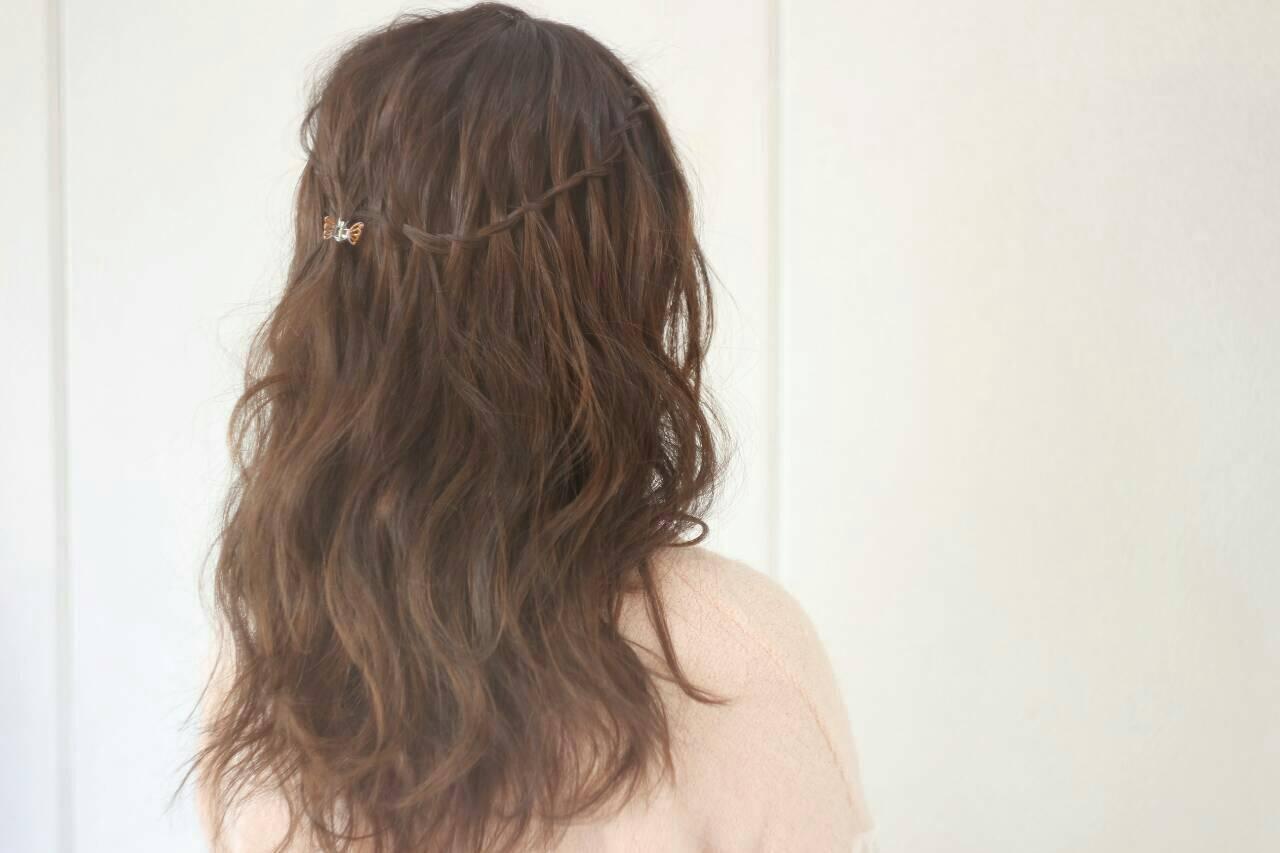 ヘアアレンジ ロング 外国人風 上品ヘアスタイルや髪型の写真・画像
