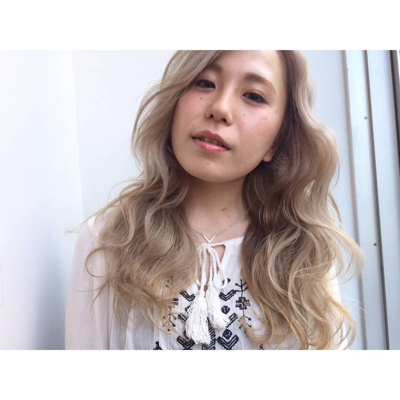 外国人風カラー 外国人風 ロング ピュアヘアスタイルや髪型の写真・画像