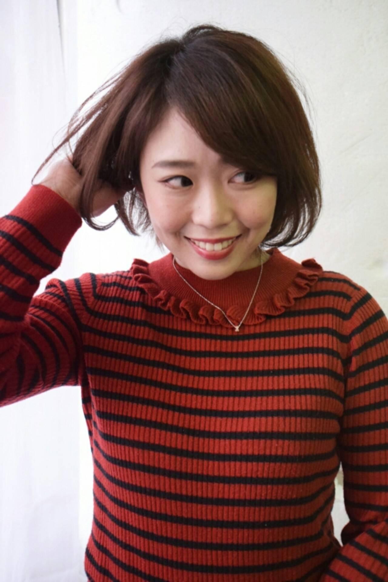 ゆるふわ 色気 大人女子 ショートヘアスタイルや髪型の写真・画像