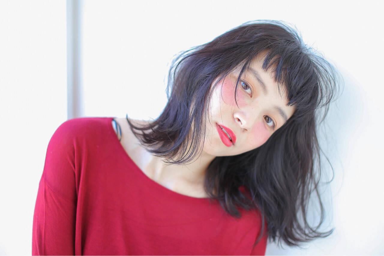 ニュアンス グラデーションカラー 大人女子 小顔ヘアスタイルや髪型の写真・画像