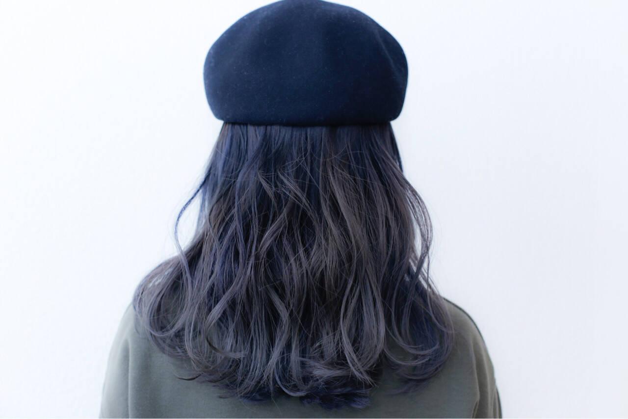 ミディアム ブリーチ ダブルカラー ストリートヘアスタイルや髪型の写真・画像