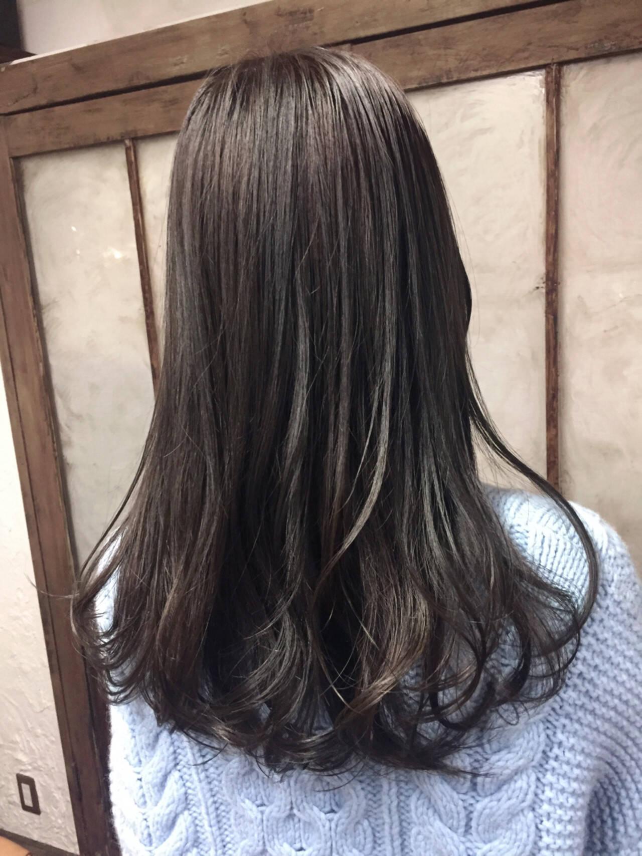 ストリート ブルージュ グレージュ 外国人風カラーヘアスタイルや髪型の写真・画像