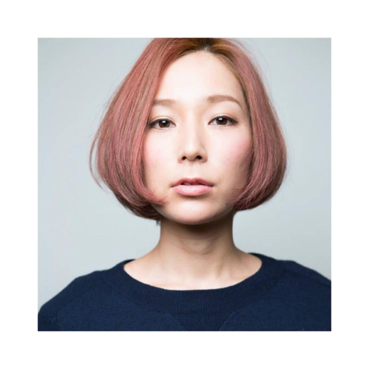 ボブ ショートボブ 3Dカラー 冬ヘアスタイルや髪型の写真・画像