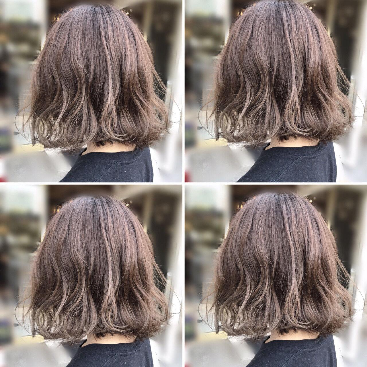 ショート アッシュベージュ 大人かわいい ボブヘアスタイルや髪型の写真・画像