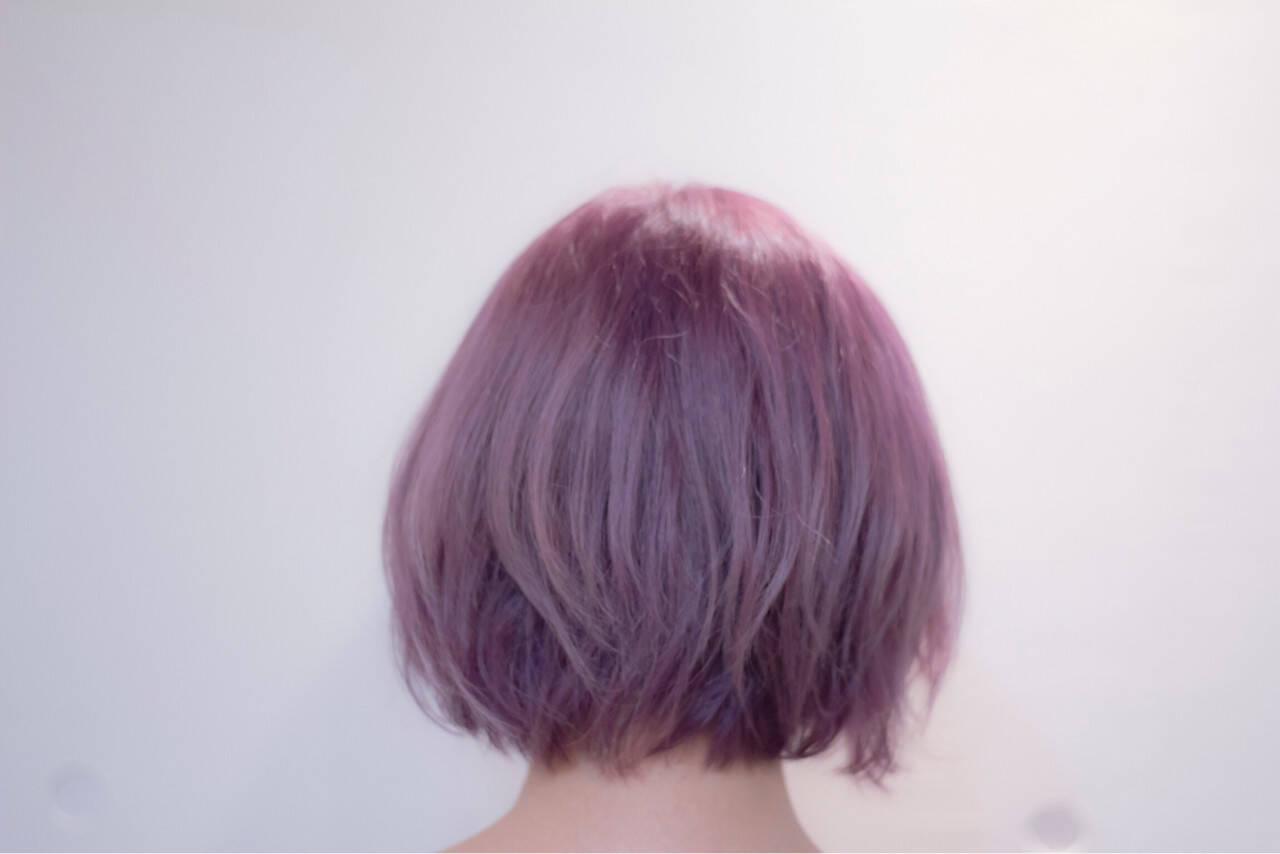 モード ゆるふわ ボブヘアスタイルや髪型の写真・画像