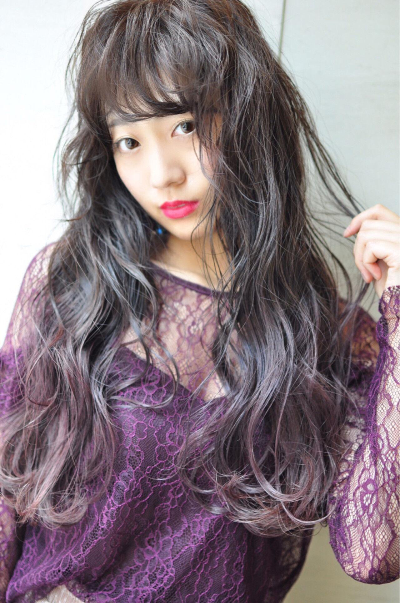 ピンク 外国人風カラー ロング ガーリーヘアスタイルや髪型の写真・画像