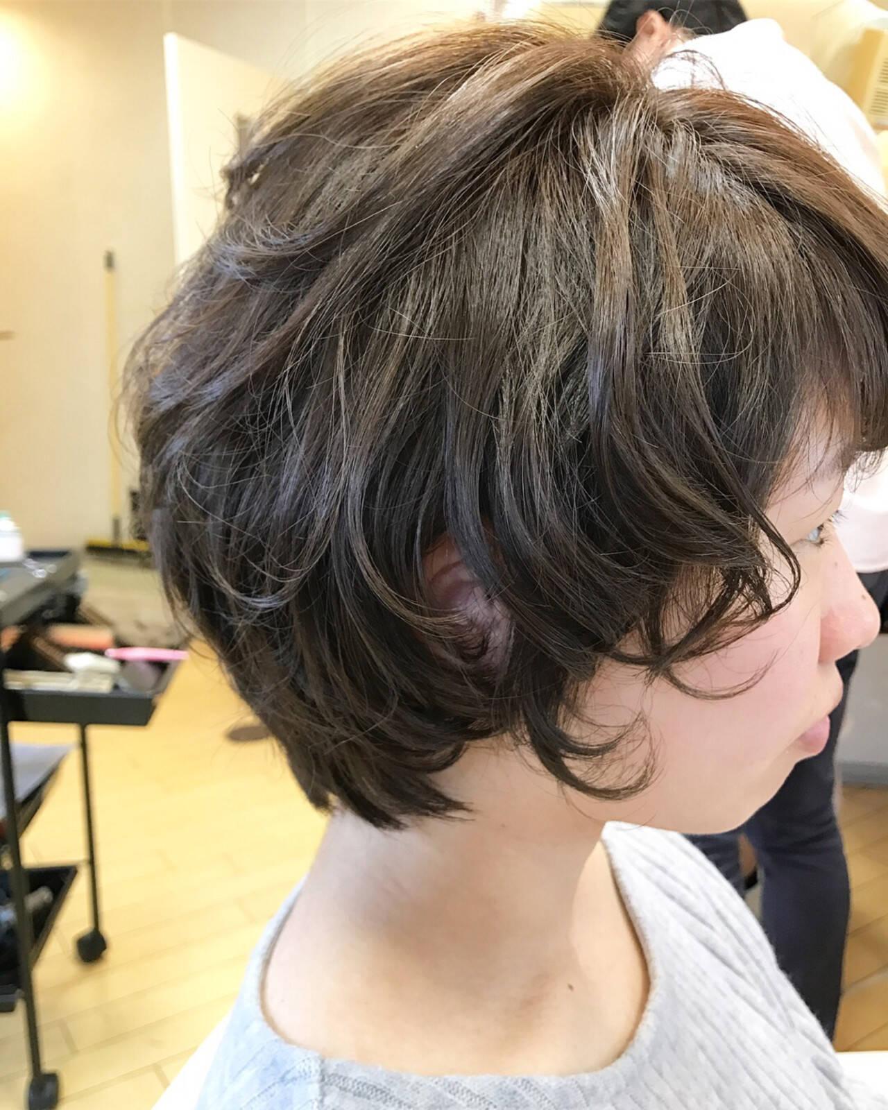 簡単ヘアアレンジ 小顔 ショート ヘアアレンジヘアスタイルや髪型の写真・画像