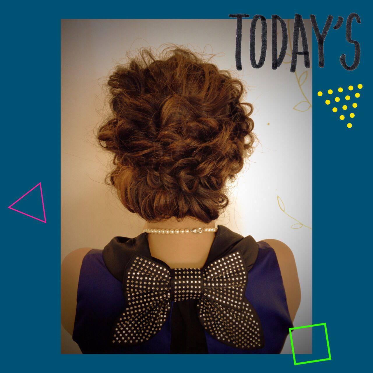 セミロング コンサバ ギブソンタック ヘアアレンジヘアスタイルや髪型の写真・画像