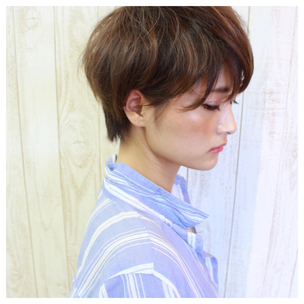 フェミニン グラデーションカラー ボブ モードヘアスタイルや髪型の写真・画像