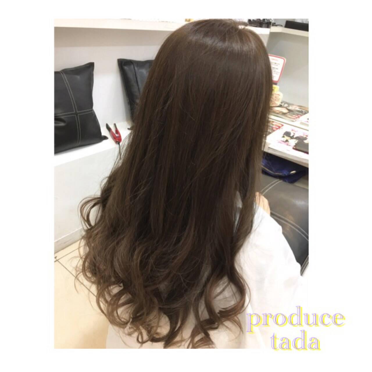 アッシュ 外国人風 グラデーションカラー 暗髪ヘアスタイルや髪型の写真・画像