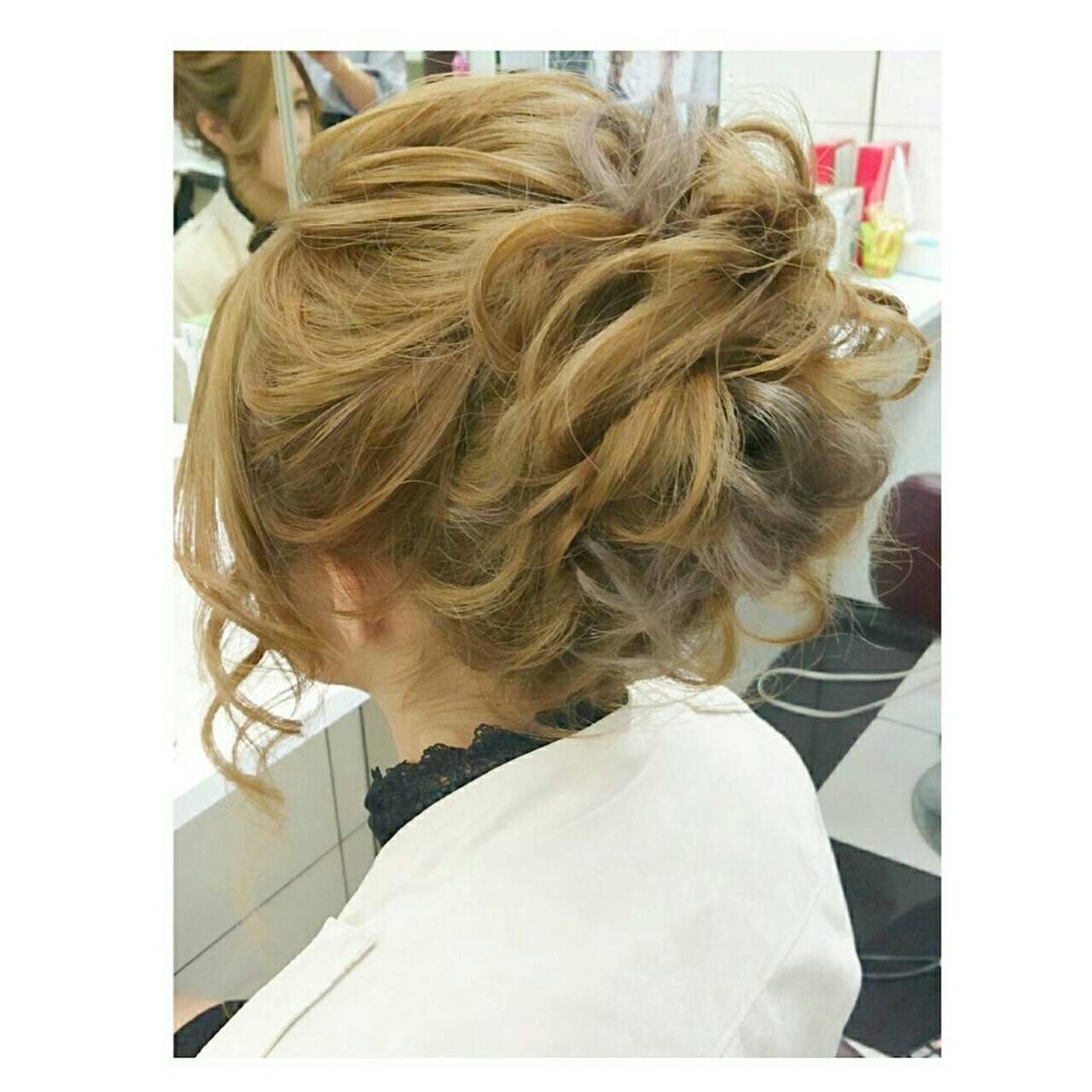 ヘアアレンジ ショート 簡単ヘアアレンジ 大人かわいいヘアスタイルや髪型の写真・画像