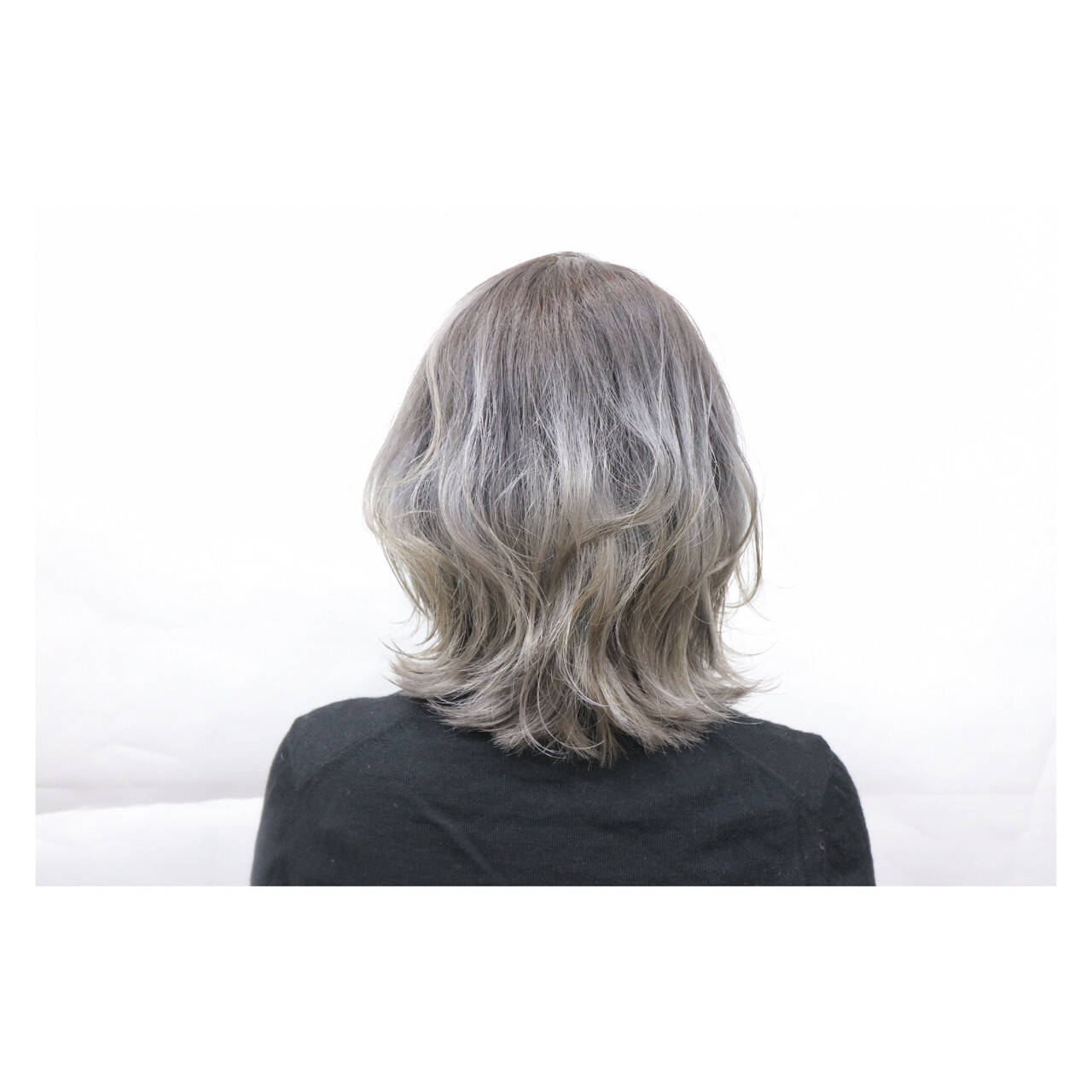 ボブ グラデーションカラー ハイトーン 外国人風ヘアスタイルや髪型の写真・画像