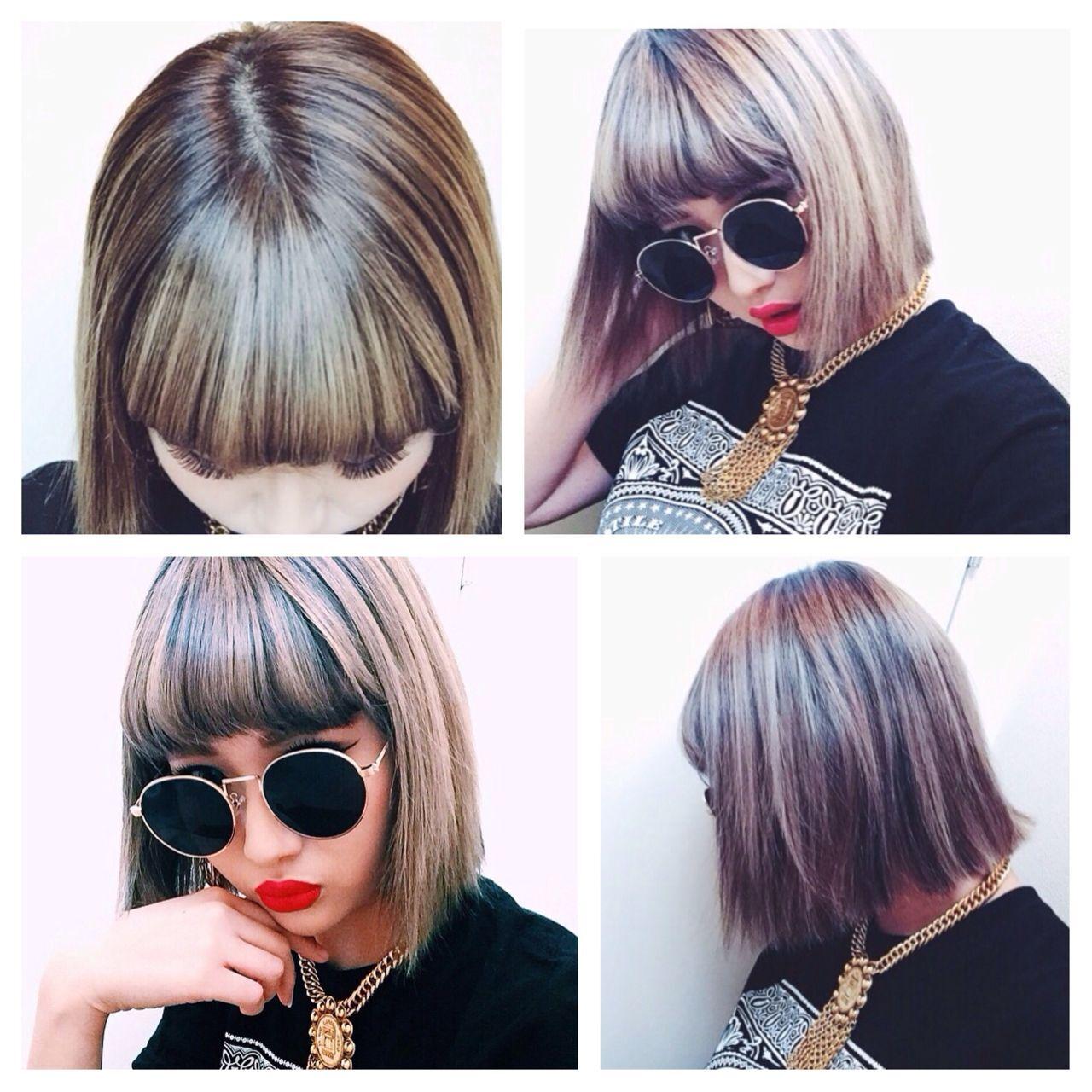 春 ストリート ボブ パンクヘアスタイルや髪型の写真・画像