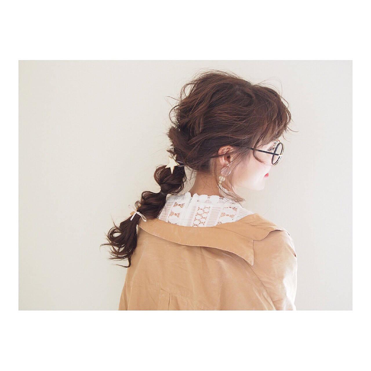 ナチュラル ロング 三つ編み ヘアアレンジヘアスタイルや髪型の写真・画像