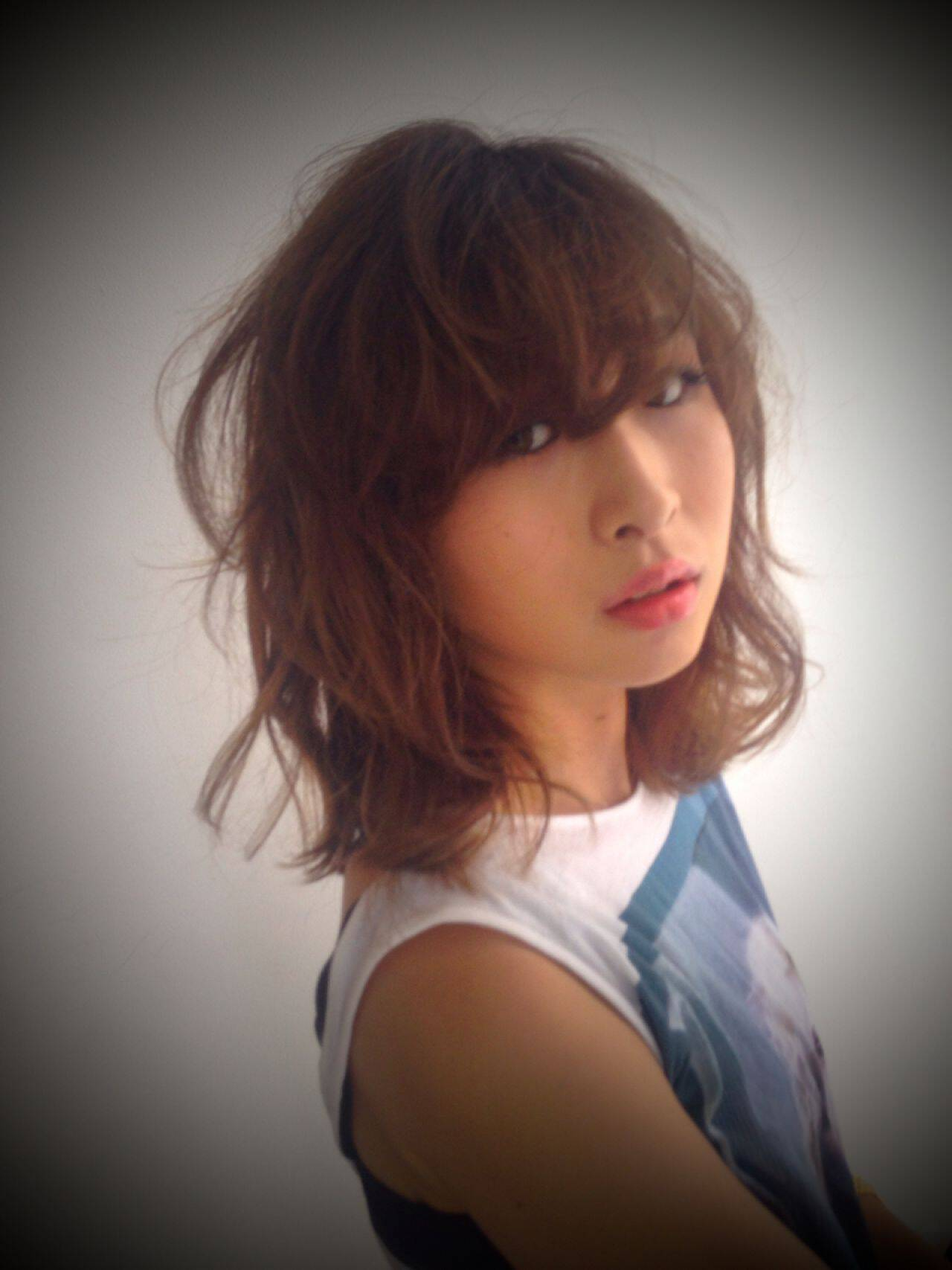 ミディアム モテ髪 大人かわいい フェミニンヘアスタイルや髪型の写真・画像